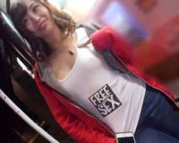 FREE SEXのTシャツ着てるノーブラ美少女を発見!ホントにフリーでヤラせてくれるのか検証ww