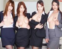 【パンストOLに中出し!】巨乳スレンダーなOLお姉さんとスーツ着衣セックス!!生挿入で膣内射精までOKなヤバイやつw