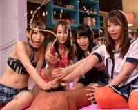 《デカチン×大量射精》『すごぉいwザーメンいっぱい出てる〜♡』ロリ美少女やギャルお姉さんにぶっかけw巨根ちんこを手コキw