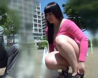 【ブスビッチ】「やろやろ~♡♡」ムチムチ巨乳おっぱい変態淫乱ヤリマン・ギャルがホームレスと野外で膣内射精SEXを楽しむ!