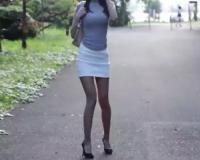 【タイトスカートお姉さん】「んっ♡んっ♡」大人しいパンスト美脚・スレンダー・ガリ巨乳おっぱいスタイル抜群美人とSEX!