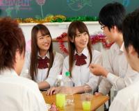 [桜もこ 松田美子]女子高生が文化祭の打ち上げで媚薬を盛られJK二人が痴態を晒しクラスメートに弄ばれレ〇プ…