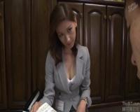 【美堂かなえ】完熟生保レディのスレンダー美熟女さんが、枕営業でガンガン誘惑して、中出しセックスをして契約をGETしちゃう♪
