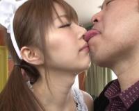 【MIYABI】モデル級スレンダーボディの美巨乳な淫乱メイドと、ヨダレまみれのベロチューSEXで絶頂イキ♡