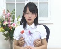 【あべみかこ】パイパン貧乳な童顔女子アナが、アナウンサーが放送中にセックスしちゃう!