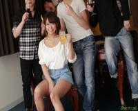 無修正 岡本理依奈 爆乳美女が飲み会からの大乱交で大淫行。