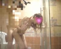 【キャバ嬢ハメ撮り】ハメまくった翌朝 ガラス張りのバスルームでヌルべちょソープランドプレイ