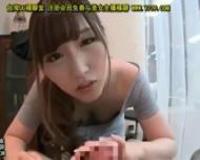 【舞島あかり】S級美人な痴女美容師が、客を誘惑して手コキ&フェラで口内射精させちゃう!