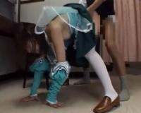 【piaキャロ】フローラルミント衣装のレイヤーを立ちバックで鬼突きまくり!ぶっかけSEX!