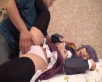 【デレマス】手マンの度潮吹いちゃうほろ酔いパイパンロリ巨乳な幸子レイヤーと生中出し連続SEX!