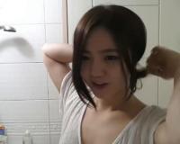 [ライブチャット]超かわいい黒髪美少女がお風呂場でオナニー配信♡
