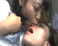 ドロ~リよだれ!唾液臭&口臭にトランス状態でベロベロ顔舐め鼻舐めレズビアン!