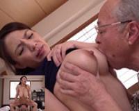 義父の介護をする巨乳な人妻が、義父にいいようにせまられ乳を吸われ揉みしだかれてハメられ中出しされちゃう