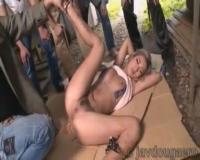 AIKA 廃屋で男達に拘束され屈辱的に野外レイプされる生意気黒ギャル