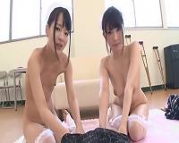 篠田ゆう あべみかこ 野々宮みさと 全裸ナースと病室でセックス&リハビリルームで3Pセックス