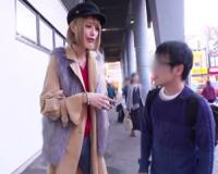 高身長タトゥー痴女がM男を逆ナンパして車内で乳首責め手コキフェラ!佐藤エル