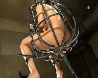 【素人】月野ゆりあ 鉄の檻に拘束された女を鬼畜調教!アナルに浣腸をぶち込まれ逆噴射してしまう【sharevideos】