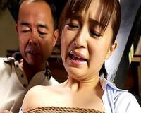 【新山沙弥】新山沙弥 夫が寝たきりになってしまい義父と暮らすことになった人妻!緊縛されてエッチなイタズラ【sharevideos】