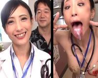 【おバカ企画】「チンポ舐めたぁぁい♡」変態妄想してるナースと女医の頭の中を可視化!美乳おっぱい女医のアへ顔ダブルピースw【pornhub】