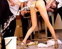 【朝桐光】朝桐光 パンスト美脚の美人女教師を輪姦レイプ!浣腸をぶち込まれてしまいアナルから大噴射【sharevideos】