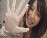 【有村千佳】きれいなお姉さんにサテン白手袋でシコシコされたい……
